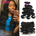 Brazilian Virgin Hair Body Wave With Closure Lace Frontal Closure With Bundles Body Wave Natural Wave Brazilian Hair