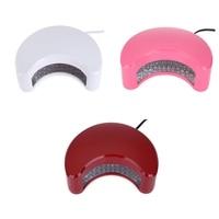 9 W Professionale Elettrico Forma di Luna LED UV Che Cura Lampada Unghie Nail Gel Polish Dryer Manicure Dispositivo per la Nail Art Salon