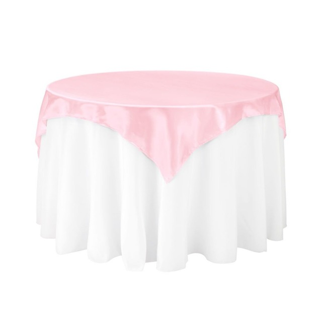 Round Table Overlays.10pcs 85 85 Pink Square Table Overlay For Round Wedding Party Dinning Table Decoration Free Shipping In Tablecloths From Home Garden On