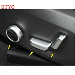 Stylo ABS ABS przycisk regulacji siedzenia przełącznik pokrywa tapicerka dla VOLVO XC60 2018