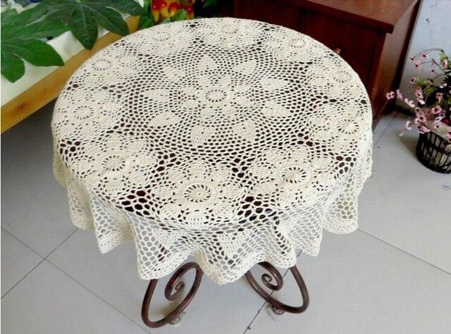 Handarbeit baumwolle tischdecken häkeln runde couchtisch deckchen ...