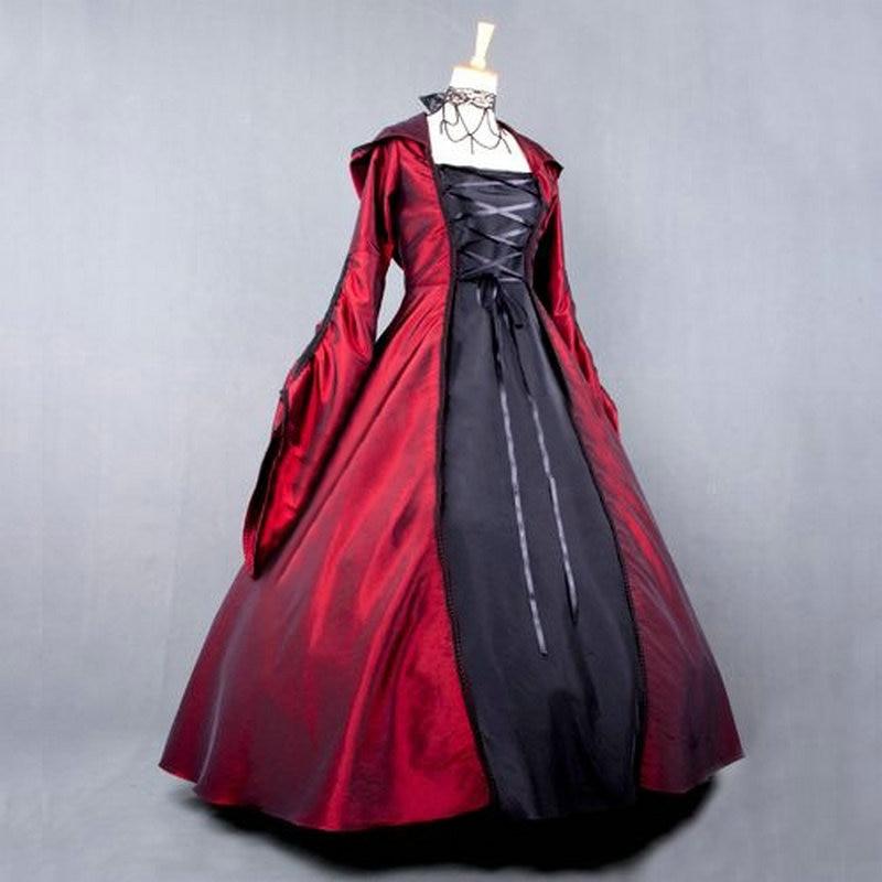 2017 Gothic Wedding Dresses Halloween Victorian Bridal: Women Vintage Victorian Lolita Dress Ladies Evening Party