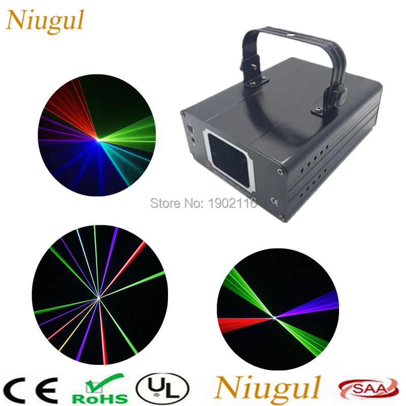 Niugul RGB Full Color 450mw DMX512 Laser Line Scanner Stage Lighting Effect Projector Light DJ Dance Bar Xmas Party Disco Lights цена
