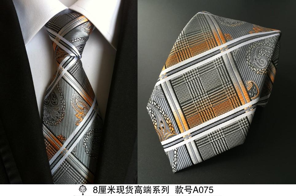 8 cm dasi leher untuk pria mewah 100% sutra mens dasi 8 cm corbata - Aksesori pakaian - Foto 5