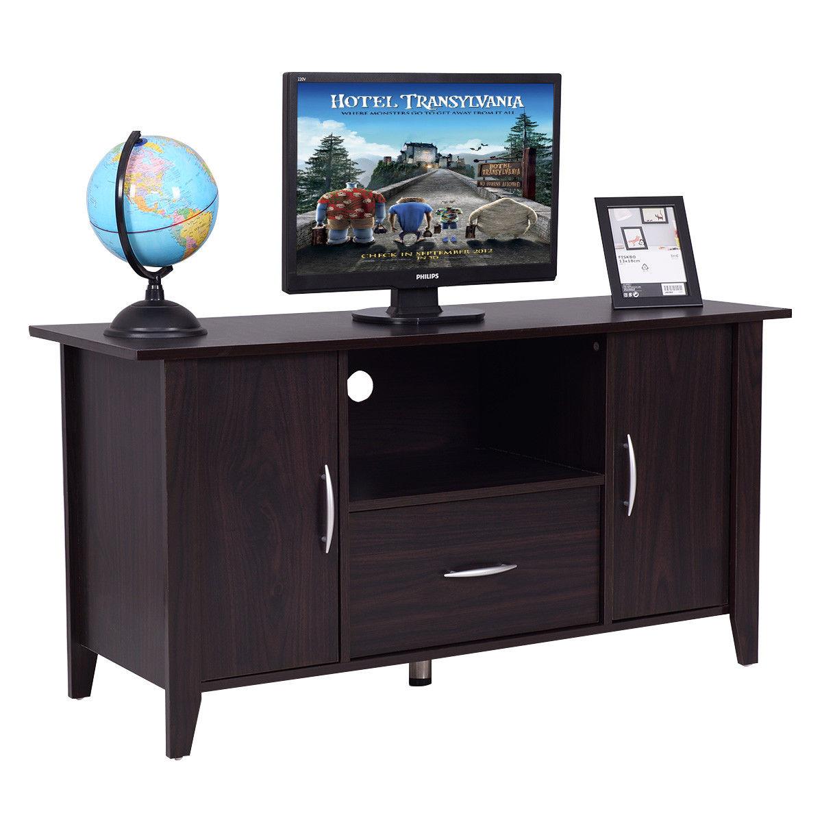 Giantex Modern Living Room TV Cabinet Media Unit Storage Shelf TV Stand Media Console Furniture Home HW54821NA