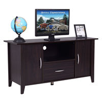 Giantex Modern Living Room TV Cabinet Media Unit Storage Shelf TV Stand Media Console Furniture Home