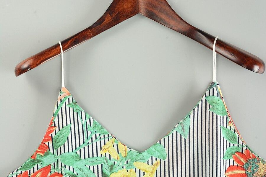 HTB1WBMWiIUrBKNjSZPxq6x00pXaB - Striped Tank Top Women Flower Print V-neck Sleeveless Summer Camis 2018 Fashion Beach Wear Off Shoulder Shirt Female Clothing