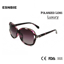 ESNBIE Oversized Sunglasses Women Luxury oculos feminino Diamond Goggle Polarized Sun Glasses Female lunette UV400
