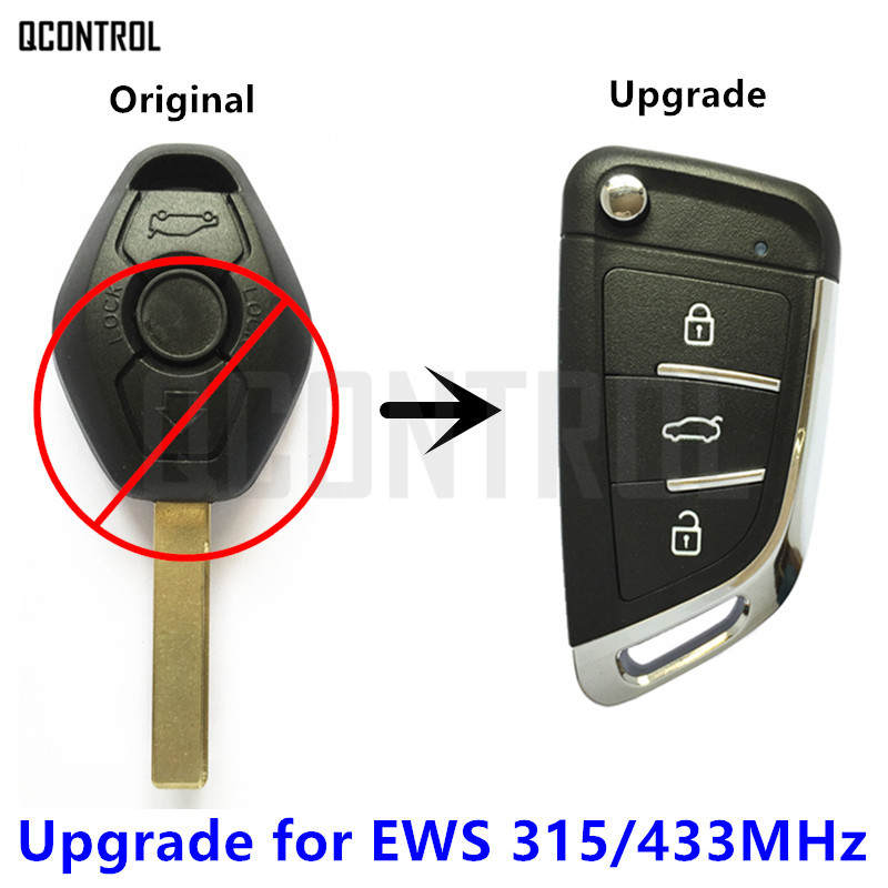 QCONTROL Modified Flip Remote Key for BMW 1/3/5/7 Series X3 X5 Z3 Z4 Keyless Entry Transmitter for EWS System 315MHz/433MHz(China)