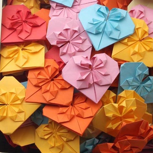 50 Pieces DIY Handmade Paper Heart Wedding Decoration Birthday Party