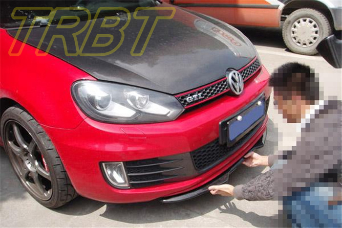 vw golf 6 gti front lip spoiler chin lip gti mk6 carbon. Black Bedroom Furniture Sets. Home Design Ideas