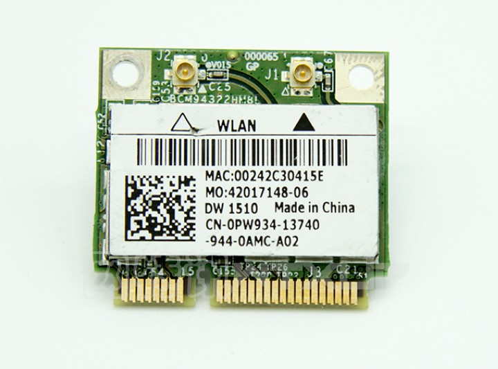 SSEA Original Wholesales New For Dell DW1510 Broadcom BCM94322HM8L BCM4322 2.4G/5Ghz Half Mini PCI-E Card 300Mbps