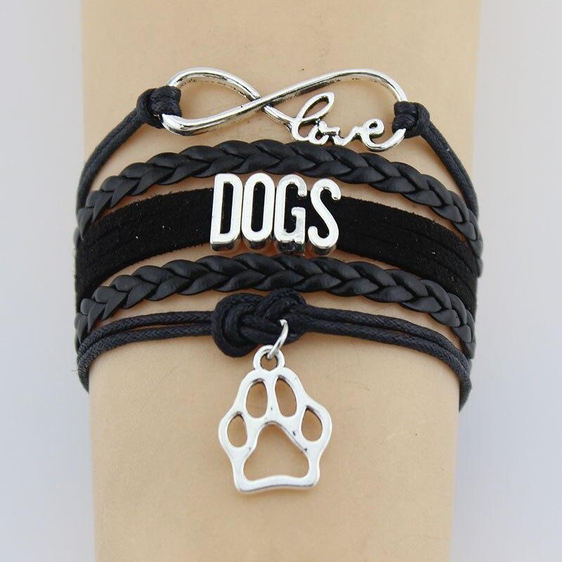 Drop Shipping Infinity Love Dogs Bracelet Dog Pet Paw ...