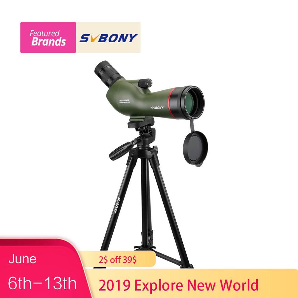 SVBONY SV19 Spotting Scope 15-45x60AE Zoom Telescope Waterproof for Archery Birdwatching FMC +49