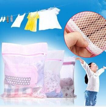 Sacs de lavage de blanchisserie en maille zippée 3 tailles pour sous-vêtements, pour délicates chaussettes de Lingerie