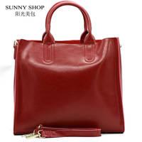 2015 Autumn New Fashion 100 Genuine Leather Women Shoulder Bag European Brand Designer Real Leather Bag