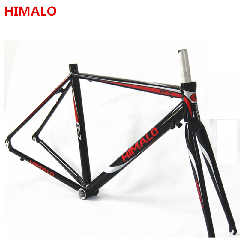 HIMALO road  frame 700c*48/50/52 fixed gear  bicycle frame Fixed Gear Bike aluminum alloy frame  700c fork цена и фото