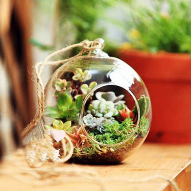 Decorative Transparent Hanging Glass Vase