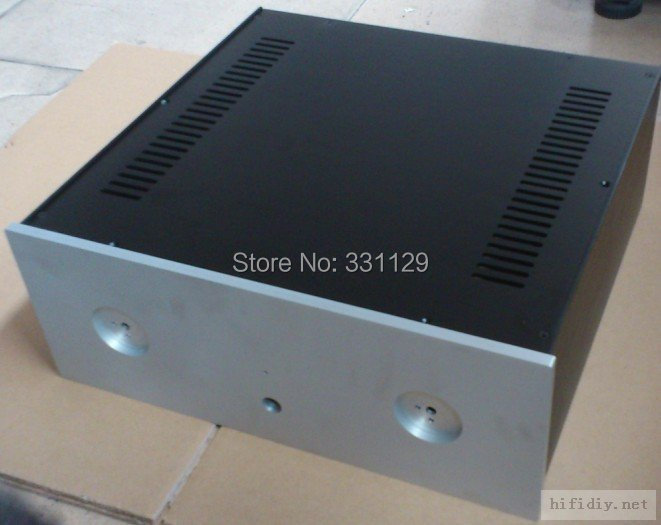 Breeze Audio-Preamp / incorporated case  aluminum chassis430*165*410mm (aluminum enclosure) 4316 breeze audio diy aluminum chassis power