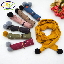 1PC Childrens Cotton Long Scarf 2018 Autumn Winter Boys and Girls Cute Small Scarves Child Baby Kids Soft