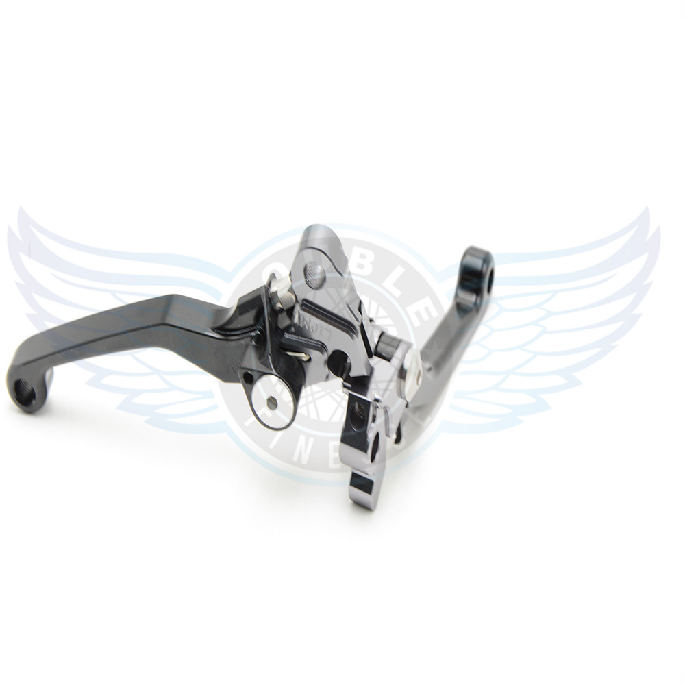 ФОТО CNC motorcycle Pivot Brake Clutch Levers black brake lever For Honda CR125R/250R 1992-2007 CRF 150R 2007-2015 XR650R 2000-2006