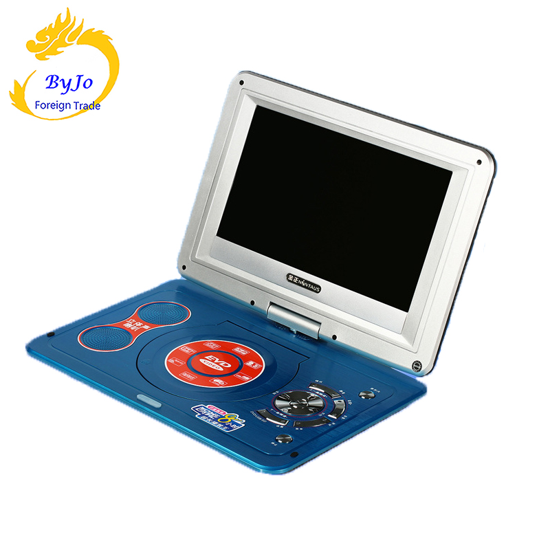 DVD player portable TV 10.2 inches LED screen 1280P HD digital LED TV Player with FM TV Game Card Read Function and U Drive Play image