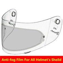 Generic motorcycle helmet anti-fog film for agv k4 k3 sv shoei arai LS2 HJC full face Helmet anti fog shield lens