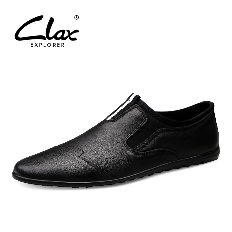 CLAX Mens Loafers 2019 Spring Summer Casual Leather Shoes Male Flats Moccasins Slip on Man s