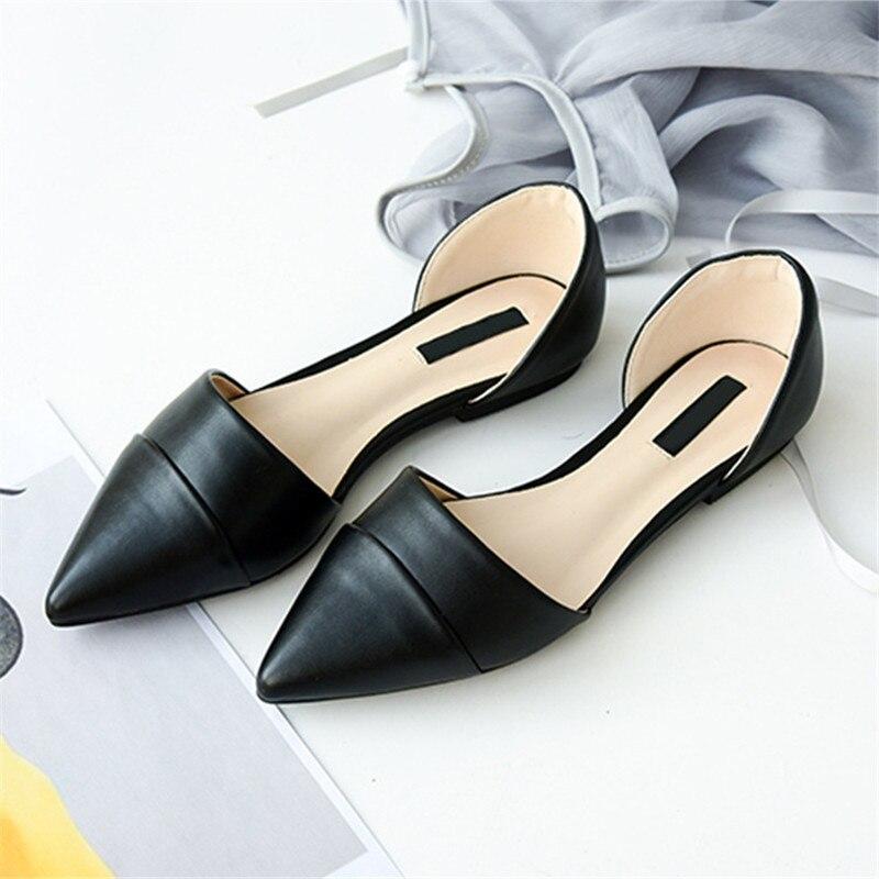 black Femmes Casual D'orsay Ballerines Ère D'été Apricot Appartements Dames Elle Sapato Plat Chaussures Femme x4XqOTT