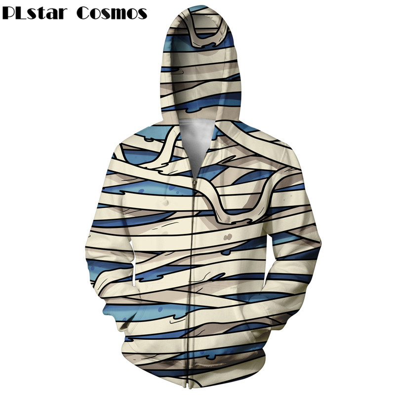 PLstar Cosmos hip hop mens hoodies zipper hoodie streetwear 3d harajuku print women sweatshirt fashion creative pattern tops