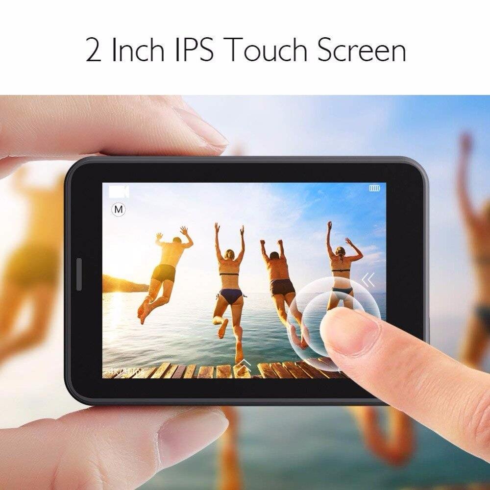 AKASO V50 Pro Natif 4 K/30fps 20MP WiFi caméra d'action 4 K avec L'EIS écran tactile Réglable angle de vue 30 m caméra imperméable - 3