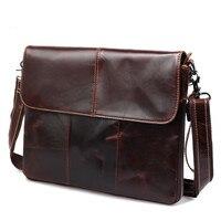 100 Guarantee Natural Genuine Leather Bag Vintage Fashion Shoulder Crossbody Bag Ultrathin Men Messenger Bags Available