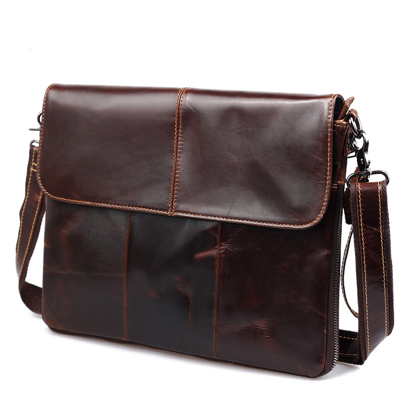 100% Guarantee Natural Genuine Leather bag Vintage fashion shoulder crossbody bag ultrathin men messenger bags available for A4 2016 new 100% guarantee genuine leather men bag high quality natural cowskin men messenger bags vintage shoulder crossbody bag