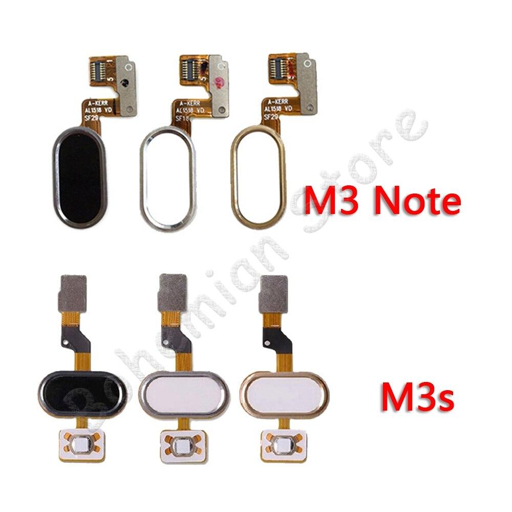 Back Home Button Fingerprint Flex Cable For Meizu M3 Note M3s Mobile Phone Repair Parts