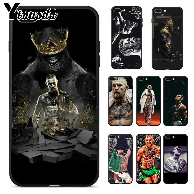 Yinuoda Conor McGregor UFC High Quality Phone Accessories Case for Apple iPhone 8 7 6 6S Plus X XS MAX 5 5S SE XR Cellphones