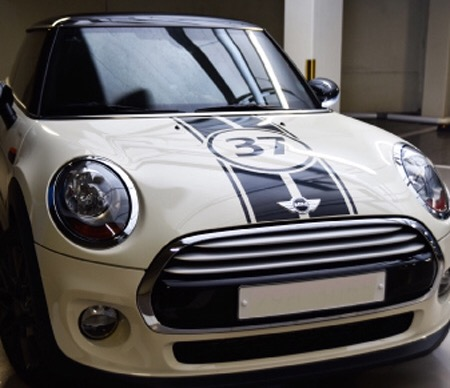 6pcs Set Mini Cooper F56 F55 Sticker Engine Rear For Mini Car