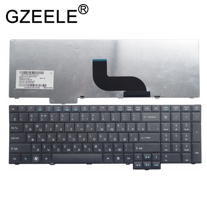 GZEELE new for <font><b>Acer</b></font> TravelMate 8573T 8573TG 7750G 7750Z <font><b>7750ZG</b></font> TM7750 P653 P653-M NSK-AZ0SC RU BLACK russian laptop keyboard RU image