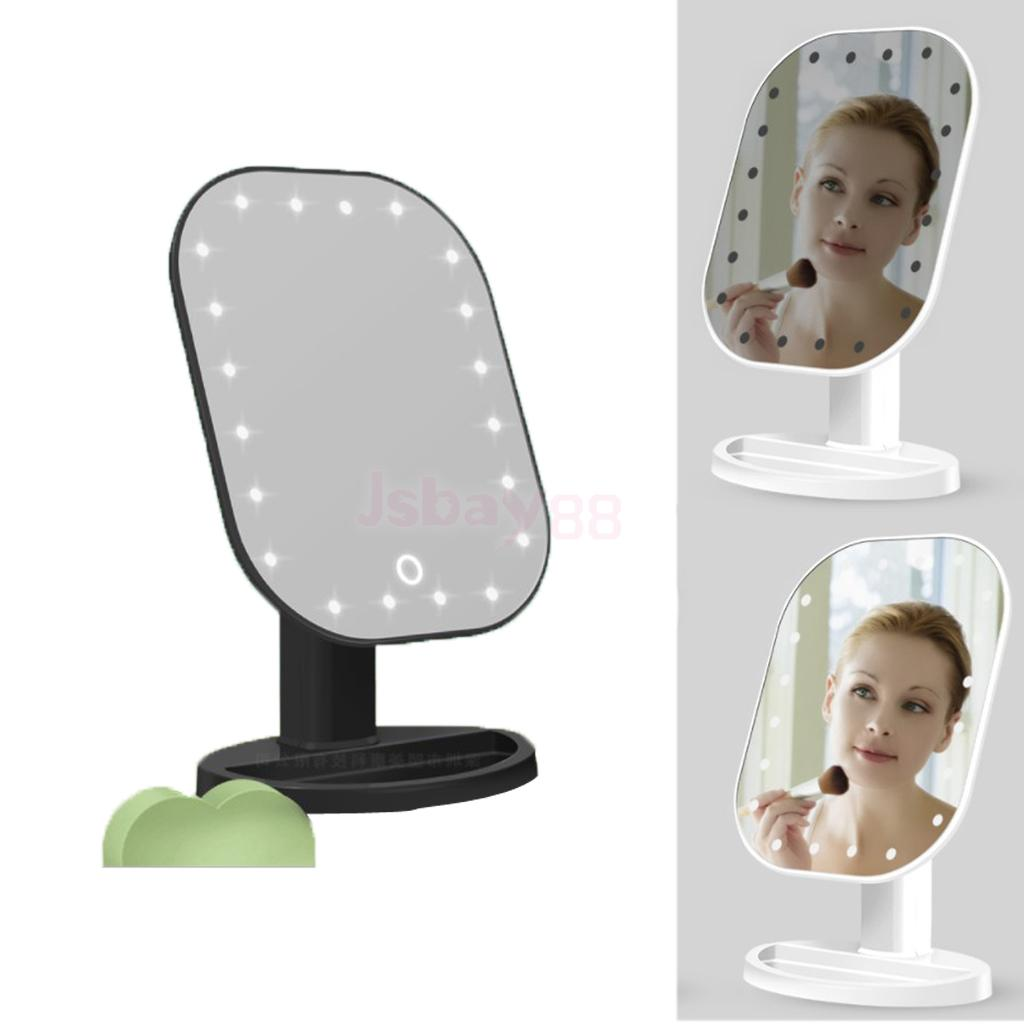 Durable LED Lighted Touch Screen Mirror Cosmetic Makeup Shaving Magnifying 1X 10X Mirror High Quality Plastic plastic acrylic parabolic mirror concave mirror focus uv protection sturdy durable reflective
