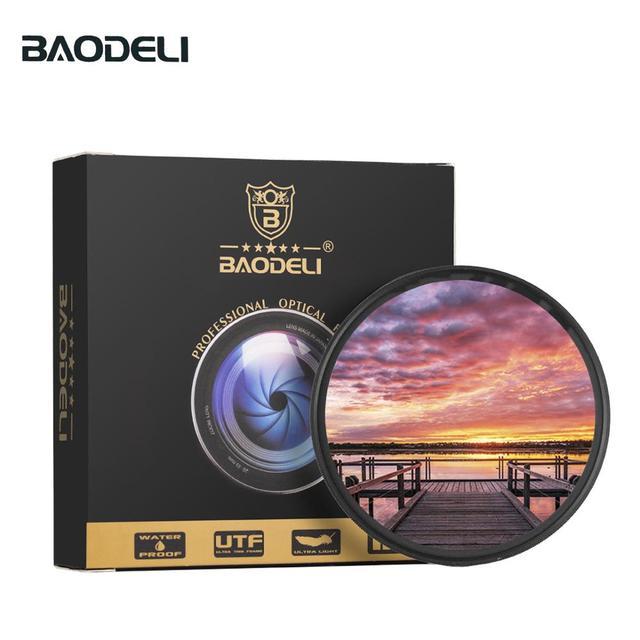Baodeli カメラレンズフィルトロフィー gnd グレーグラデーションフィルターコンセプト 49 52 55 58 62 67 72 77 82 ミリメートルキヤノンニコンソニー A600 アクセサリー
