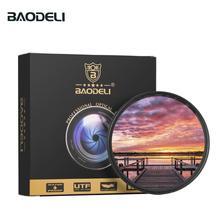 Filtro para lente de câmera baodeli, filtro gradiente cinza, conceito de filtro, 49 52 55 58 62 67 72 77 82 mm acessórios canon nikon sony a600