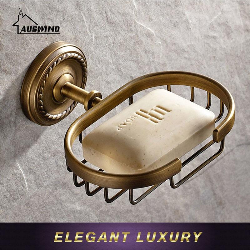 Antique Solid Brass Bathroom Accessories Set Carved Bronze ...