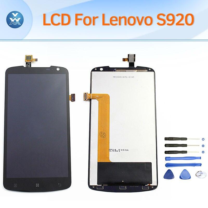 Lcd asamblea de pantalla táctil digitalizador para lenovo s920 pantalla lcd pant