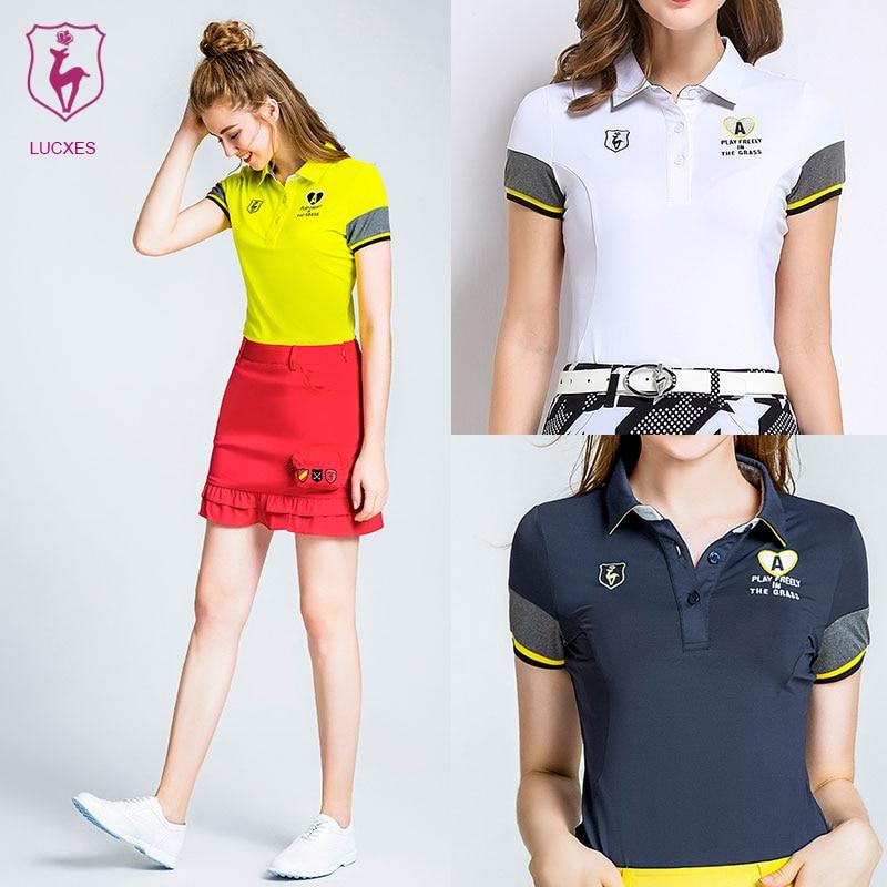 82511692 Αγορά Γκολφ | LUCXES summer golf shirt women polo t clothing slim fit high-elastic  ventilated 2018 anti sweat 120178 free shipping