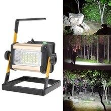 Светодиодный перезаряжаемый Точечный светильник 50 Вт 36 светодиодный поисковый светильник портативный 2400LMFlood точечный рабочий светильник для наружного кемпинга лампа с зарядным устройством