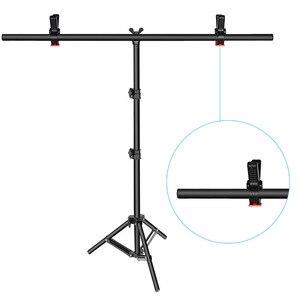 Image 3 - Neewer t şekli arkaplan Backdrop destek stant kiti: 32 80 / 28 79 / 18 31 inç ayarlanabilir Tripod standı ile 2 sıkı kelepçeleri