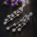 Boemia Borla Flor de Cristal CZ Brincos Para As Mulheres Da Índia Estilo Banhado A Ouro Acessórios Jóias brincos femme