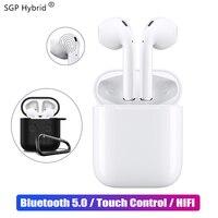 Мини i12 СПЦ Touch Bluetooth наушники 5,0 с случае музыка 3D стерео гарнитура для Apple iphone samsung sony true беспроводной