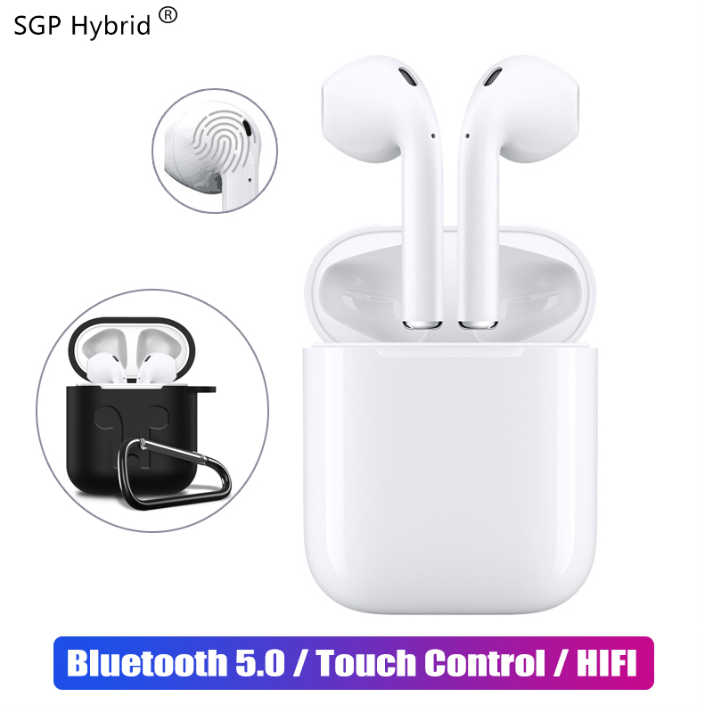 Mini i12 TWS Touch Bluetooth Earphone 5.0 with Case Music 3D Stereo Headset for Apple iphone Samsung Sony true Wireless Earbuds
