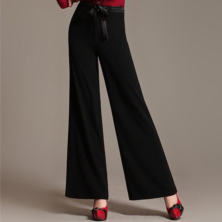 Mujeres rojo rosado Pantalones Alta Pierna De negro Cintura blanco verde 2018 Verano Suelta Mujer Palazzo Ancha Beige Zq6w6BE