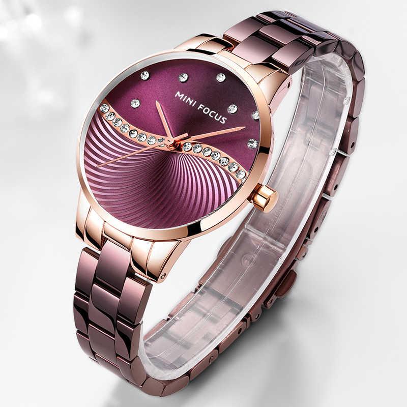 מיני פוקוס Relogio Feminino נשים שעון למעלה מותג יוקרה 2019 עלה זהב נשים צמיד שעונים לנשים שעון יד Montre femme